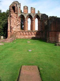 Arbroath Abbey. Grave of William the Lion, King of Scotland (my husbands ancestor:) Photo by Lady Glynstewart.