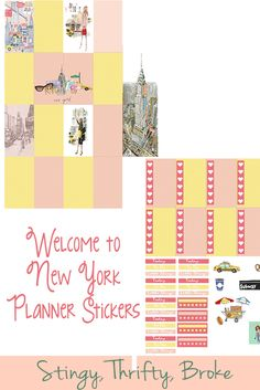 Do you love New York as much as I do? Make sure to print these New York Planner Stickers!