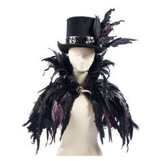 Halloween Feather Cape - Halloween Decorations and Decor