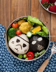 Star Wars Vegan Lunch Bento Box #stormtrooper #darthvader