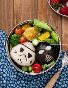 Star Wars Vegan Lunch Bento Box #stormtrooper #darthvader