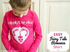 Sew Can Do: Easy Fairy Tale Romance Flocked Shirt Tutorial.  Great for Valentine's Day, fairy tale fans or wedding parties.