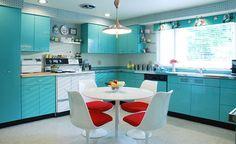 Cocinas modernas con aires retro