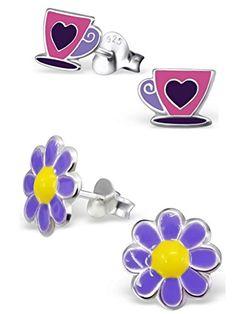 875b5b77942 Minigems Dangle Shamballa Flower Earrings for Girls     Learn more by  visiting the image link.
