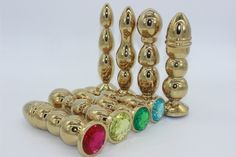 78.66$  Buy here - http://alimq1.worldwells.pw/go.php?t=32653847242 - Sex tools for sale 4pcs/set High-end luxury anal bead golden metal butt plug,anal plug dildos sextoys adults for men and women.