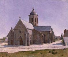 """Henri Le Sidaner """"L'Eglise Saint-Michel, Etaples"""" 1885. Musée des Beaux-Arts, Dunkerque"""