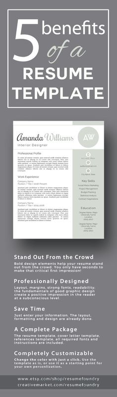 modern male resume template cover letter two page use with
