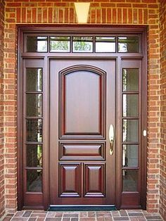 40 Unique Front Door Design Ideas You Would Love To Implemen.- 40 Unique Front Door Design Ideas You Would Love To Implement Wooden Main Door - Unique Front Doors, Best Front Doors, Wood Front Doors, Solid Doors, The Doors, Wooden Doors, Entry Doors, Front Entry, Patio Doors