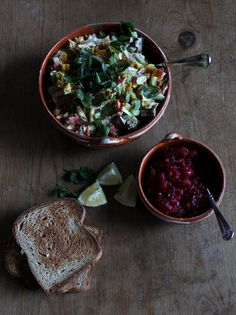Smoked Chicken Salad with Maple-Cranberry Sauce recipe via amy of mountainskillet.com