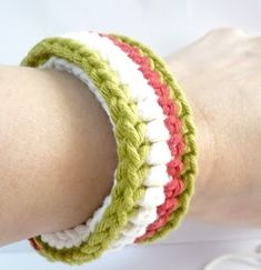 Fits 7 inches wrist. Here's how to make this crocheted bracelet: Materials * Crochet Hook 3.5mm * Tapestry needle * Scissors * ...