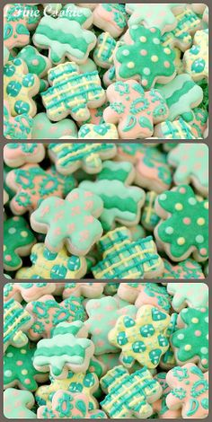 St. Patricks Day shamrock cookies, DIY St. Patrick's Day snacks, Saint Patrick's Day Themed party ideas  #cookie #DIY #idea www.loveitsomuch.com