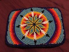 Beautiful Large Native American Beaded Belt Buckle Brand New Never Worn #BeltBuckles