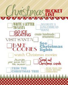 Christmas Bucket List from howtonestforless.com