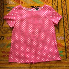 NWOT Polka-dot Blouse New without tags! Polka-dot blouse with buttons down back. Size small. 94% polyester, 6% spandex. Ann Taylor Tops Blouses