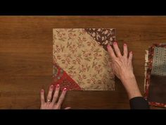 """SCROLL DOWN to Watch the """"Fold and Sew Quilts"""" video tutorial If you're ready to Sew & either Don't have the Time OR Don't Want to Cut Pieces This Is a great video to get some ideas! Very Simple and Fast Quilt Block Construction. You can use Squares or folded in half squares to make …"""