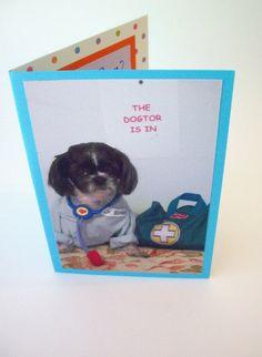 Feel Better Dog Greeting Card by lillyzcardz on Etsy $4.00