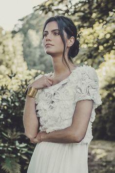 """Top """"Renan"""" et robe de mariée """"Allen"""", Laure de Sagazan"""