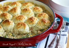 Melissa's Southern Style Kitchen: Biscuit Topped Chicken Pot Pie