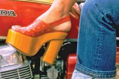 """Consumer Reports' testing has helped to make a safer world. January 1974: Platform shoes hit a low. Platform shoes were high fashion but also quite hazardous. Aside from risk of falls, we warned that the rigid soles impeded the foot's normal flexing, straining ankles, knees, and hips, and possibly causing backaches, poor posture, and pulled muscles. Our advice: """"For consumers who already own platform shoes: Walk slowly. Our advice for those who have resisted the temptation: Walk proud."""""""