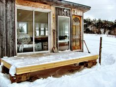 14 year old's shack located in Edmonton, Alberta. The shack is built from repurposed materials found at a nearby dump.