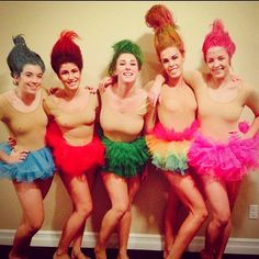 Trolls: A super creative and easy group Halloween costume you can make at home.