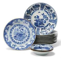 Chinese blue and white plates :: kangxi period