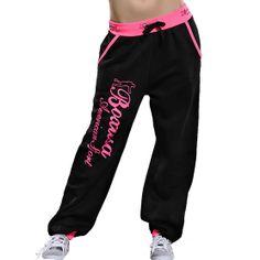 BoxUsa housut: musta-pinkki tai musta-oranssi. Koko L.