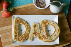 DAD pancakes for Father's Day breakfast | easy and so sweet!