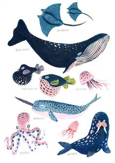 Under the Sea / Nursery Wall Art / Whale / Nautical / Whale Print / Bathroom Wall Decor / .- Unter dem Meer / Kinderzimmer Wandkunst / Wal / Nautik / Wal Print / Badezimmer Wand Dekor / … Under the Sea / Nursery Wall Art / Whale / Nautical / … - Sea Nursery, Nursery Wall Art, Nursery Decor, Nautical Nursery, Nautical Art, Nautical Prints, Whale Illustration, Whale Print, Guache