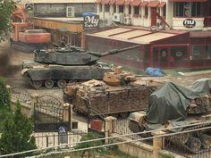 Mardin Nusaybin, Turkish tanks, M60T and M48A5 plus ACV 300 IFV.