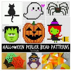 Cute Halloween Perler Bead Patterns. My kids love creating with perler beads. These will be fun kids crafts Halloween activities.