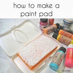 Alma Stoller: tutorial:how to make a paint pad,use  with your rubber /handmade stamps to print on paper or fabric.
