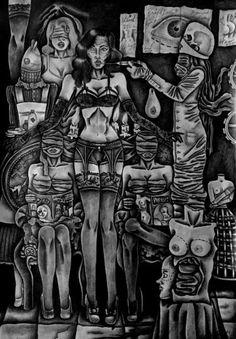 "Saatchi Art Artist Celeste Gómez; Drawing, ""THE OPERATING ROOM"" #art"