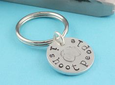 I Shoot People Handstamped Keychain - Silver Key Ring - Camera Bag Tag - Photographer Gift. $13.00, via Etsy.