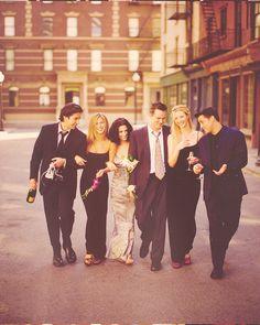 David Schwimmer, Jennifer Aniston, Courtney Cox, Matthew Perry, Lisa Kudrow, and Matt LeBlanc
