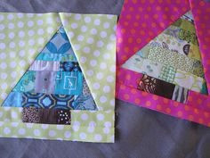 Christmas patchwork trees by Emerson Gray, via Flickr