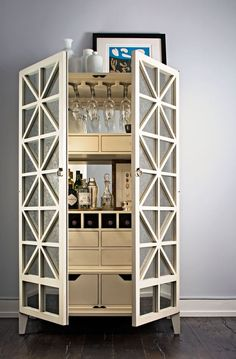 Happy hour gets an upgrade thanks to the elegant bar cabinet - Girls Room Furniture Furniture, Modern Furniture, Interior, Bar Cabinet, Luxury Furniture, Dining Furniture, Classic Bar Stools, Home Decor, Bars For Home