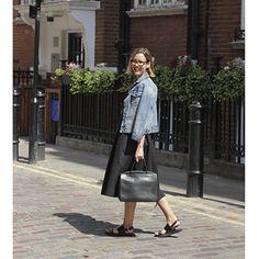 Alexandra Stedman, acting fashion and shopping editor, in a H+M midi skirt. More fashion trends on Redonline.co.uk