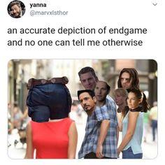 Disney's Marvel Avengers: Endgame Funny Marvel Memes, Marvel Jokes, Dc Memes, Avengers Memes, Marvel Dc Comics, Marvel Avengers, Funny Memes, Hilarious, Spiderman Marvel