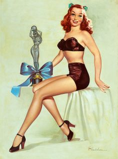 And the award for best pinup of the year goes to... #vintage #pinup #girl #art