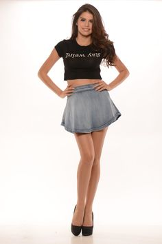 Stay Weird Crop Top (Black) - $14.99 #FashionNova #SaySomething #Black