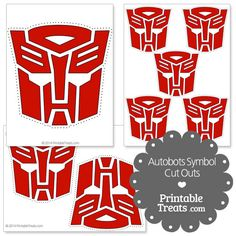 Printable Autobots Symbol Cut Outs from PrintableTreats.com