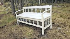 1800s bench with rural decoration theme.