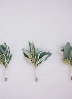 Boutonnieres perfect for Tuscan Inspired Wedding - Check out these Tuscan Inspired Wedding Ideas from wedding decor to marble wedding cake. It would make the perfect compliment Olive Wedding, Floral Wedding, Wedding Bouquets, Wedding Flowers, Grey Wedding Decor, Olive Branch Wedding, Minimalist Wedding Decor, Flower Bouquets, Tuscan Wedding