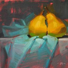 """Pear Passion - SOLD"" - Original Fine Art for Sale - © Carol Marine"