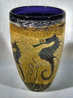 Bendzuna Glass Vase - Seahorses