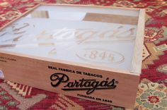 Cigar Box Unique Opening Frosted Top Treasure by IndustrialPlanet, $12.80