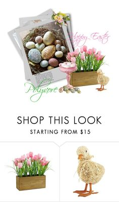 """""""HAPPY EASTER <3"""" by mercanici ❤ liked on Polyvore featuring Pier 1 Imports"""