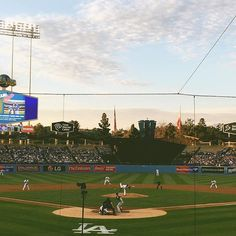 Yesterday's #Dodgergame ⚾️ The catcher must have thighs of steel squatting for so long! (Spot the ball?)