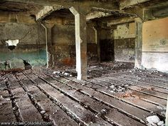 inside the hospital ruins in Corregidor island, Philippines